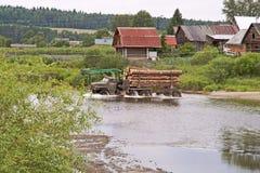 木材运输 免版税库存图片