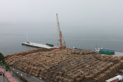 木材运输 库存图片