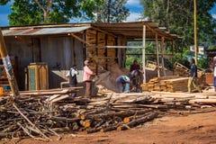 木材锯木厂 免版税图库摄影