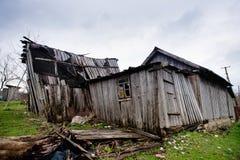 木村庄房子老的村庄 免版税库存照片