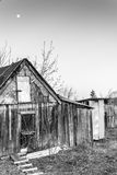 木村庄棚子和月光 库存照片