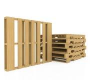 木板台 向量例证