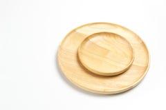 木板材或盘子隔绝了白色背景 库存图片