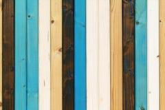 木板条白色蓝色褐色,非常好的背景 图库摄影
