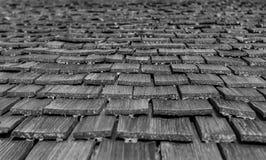 从木板条的屋顶 免版税库存照片