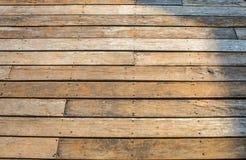 木板条纹理后面地面 库存图片