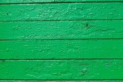 木板条纹理绘与绿色油漆,当地p 库存照片