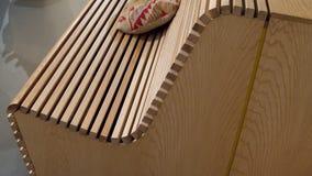 木板条长凳细节  免版税库存照片