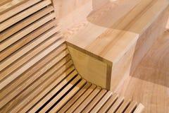 木板条长凳细节  免版税图库摄影