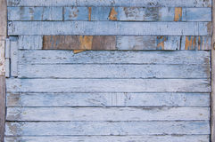 木板条,木背景,蓝色 免版税库存图片