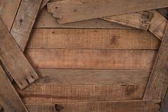 土气,乡村模式的木板条背景 免版税库存照片