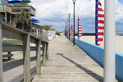 木板走道大西洋海滩 图库摄影