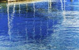 木板走道小游艇船坞Abstract湖Coeur D ` Alene爱达荷 免版税图库摄影