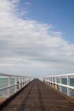 木板走道海洋 免版税库存图片