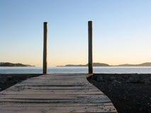 木板走道海运 库存图片