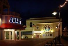 木板走道迪斯尼地区的大西洋舞厅夜总会 图库摄影