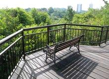 木板走道露台顶层结构树 免版税库存图片