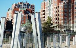 木板走道整修兔子岛纽约 免版税库存图片