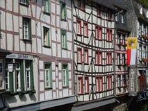 木构架的安置的细节在德国2 库存照片