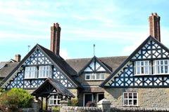 木构架的房子在英国 免版税库存照片