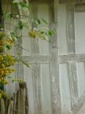 木构架的房子细节  免版税库存照片