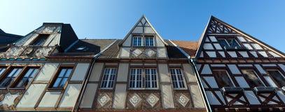 木构架的门面 免版税库存照片