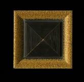 木构筑的小条四面体方形的装饰玫瑰华饰  图库摄影