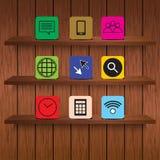 木架子和应用传染媒介例证 库存例证