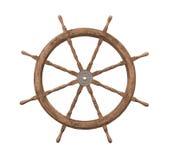 木查出的老船的轮子 免版税图库摄影