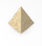 木查出的金字塔的实体木材 向量例证
