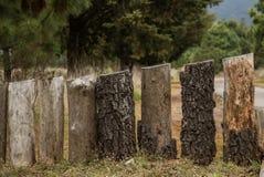 木柱子 免版税库存图片