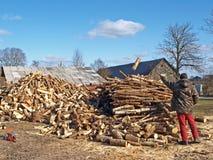 木柴做 免版税库存图片