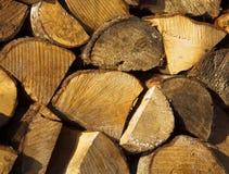 木柴在冬天准备 免版税图库摄影