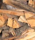 木柴纹理,在锯切木头以后 库存图片