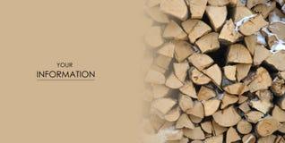 木柴自然栈帧的树 免版税库存图片