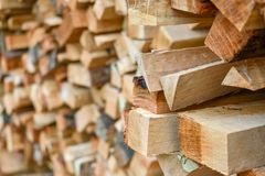 木柴黏附堆背景 库存图片