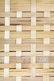 木栅格,被编织的木头背景  竹木纹理 免版税库存图片