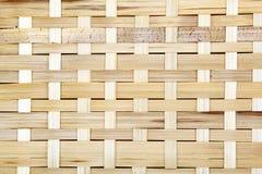 木栅格,被编织的木头背景  竹木纹理 库存照片