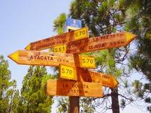 木标志大加那利岛 免版税库存图片