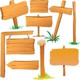 木标志板 库存例证