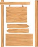 木标志板 向量例证