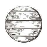 木标志 剪影图表 木板走道背景 o 库存例证