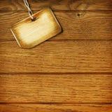 木标签的墙壁 库存照片