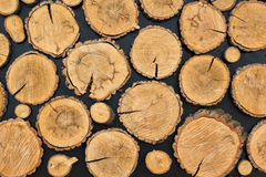 木树桩背景 免版税库存照片