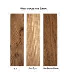 木样品品种从欧洲的 免版税库存照片