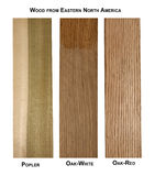 木样品品种 免版税库存照片