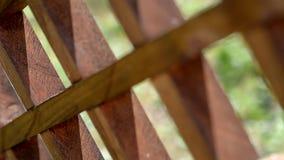 木格栅,缓慢的全景 影视素材
