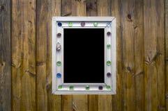 木框架板条时髦的葡萄酒 免版税图库摄影