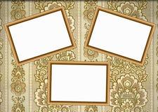 木框架的墙纸 图库摄影