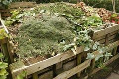 木框的天然肥料 免版税图库摄影